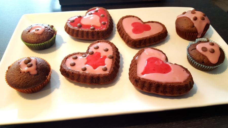 Be my Valentin - Verschiedenes Gebäck zum Valentinstag